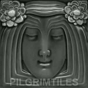 Lady Grey Art Nouveau Arts and Crafts Tile an123