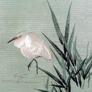 Japanese style decorative tile bird