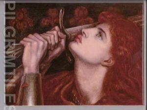 Pre Raphaelite Joan Of Arc Tile