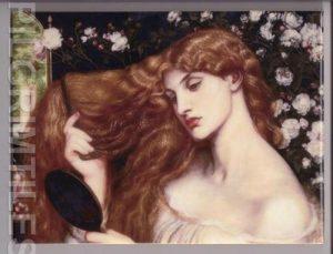 Pre Raphaelite Lady Lilith Tile