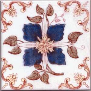 Victorian Floral Style Tile ref 01