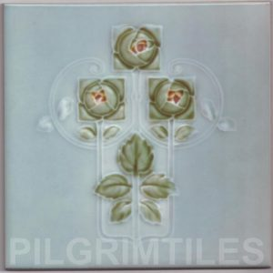Mackintosh Rose Art Nouveau / Arts & Crafts Tile mac 11