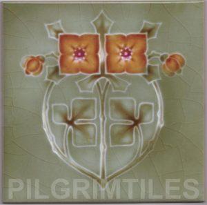 Mackintosh Rose Art Nouveau / Arts & Crafts Tile mac 12