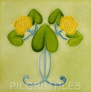 Mackintosh Rose Art Nouveau / Arts & Crafts Tile mac 4