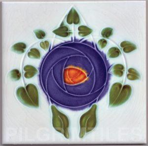 Mackintosh Rose Art Nouveau / Arts & Crafts Tile mac 9