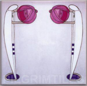 Mackintosh Rose Ladies Art Nouveau / Arts & Crafts Tile