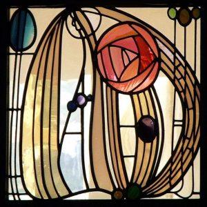 Mackintosh Glass Art Nouveau / Arts & Crafts Tile glass 1