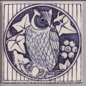 Aesthetic Movement tile  - Blue Owl