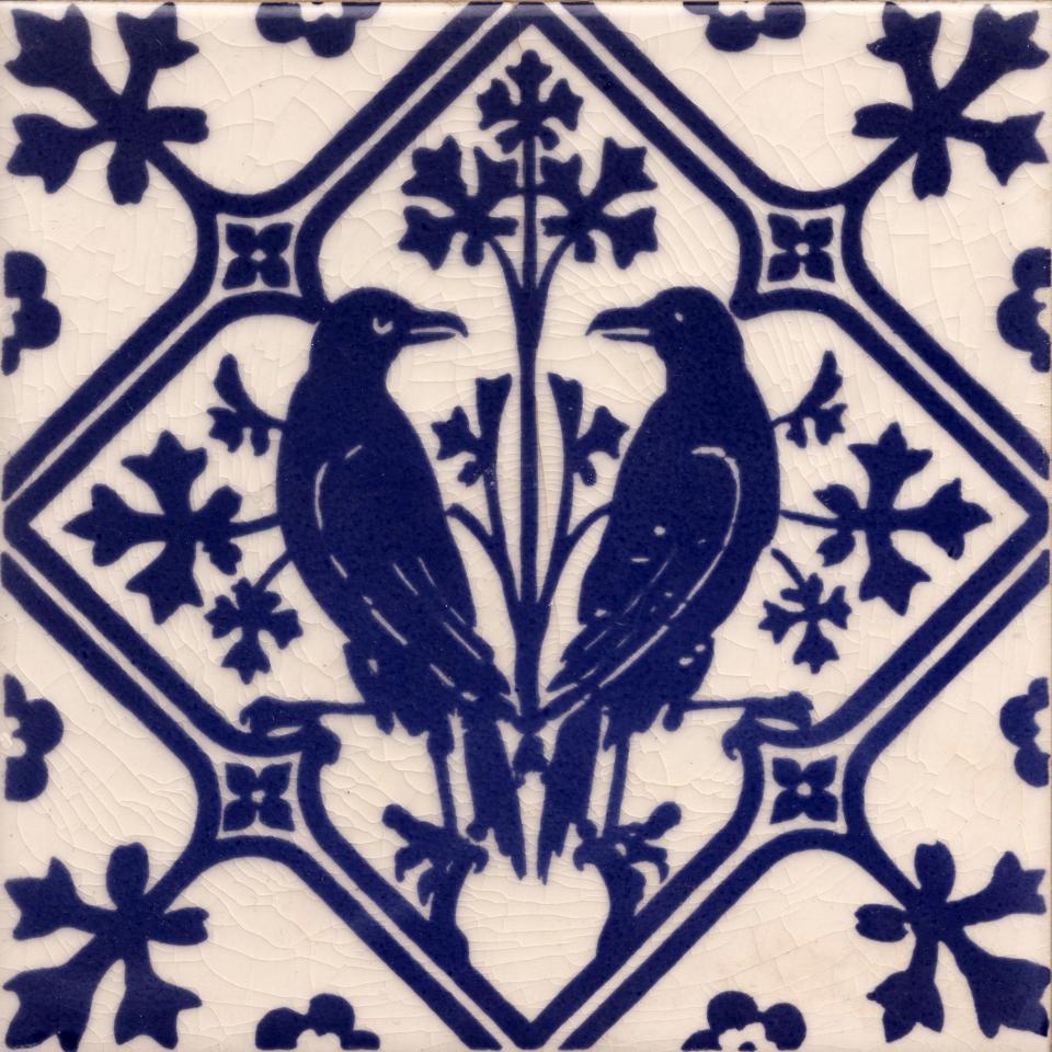Gothic Pugin Style  Raven tile ref