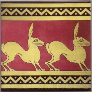 Voysey  Rabbit Border Tile ref 05