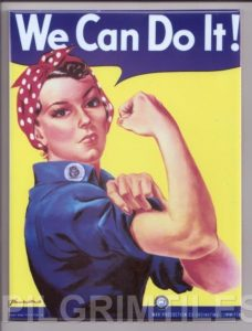 Pin Up Style decorative Tile Rosie the riveter