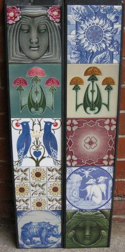 Art nouveau / Arts & Crafts Mixed Tile Set ref 001
