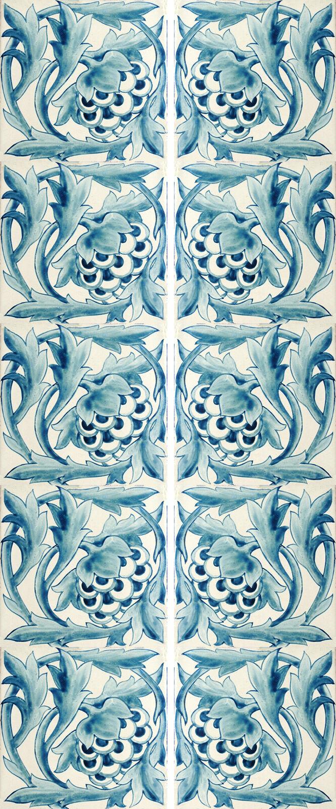 William Morris Artichoke Fireplace Tile Set