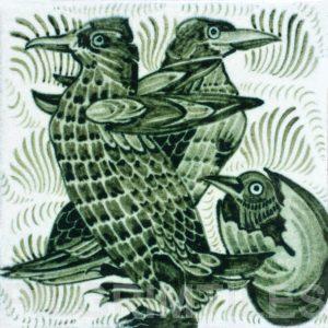 William De Morgan Penguins Tile