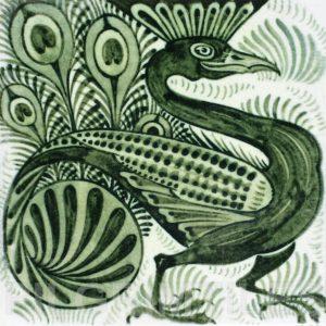 William De Morgan Peacock Tile