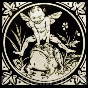Minton Elfin Arts and Crafts Tile ref 10