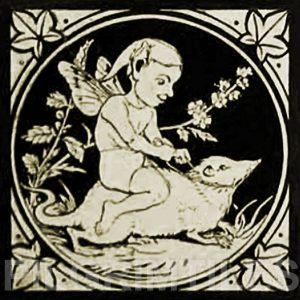 Minton Elfin Arts and Crafts Tile ref 2