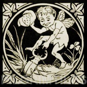 Minton Elfin Arts and Crafts Tile ref 3
