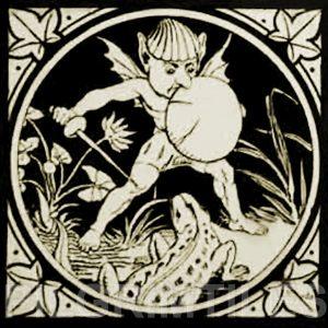 Minton Elfin Arts and Crafts Tile ref 4