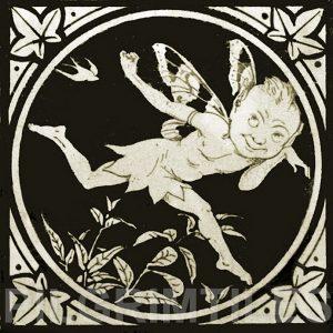 Minton Elfin Arts and Crafts Tile ref 6