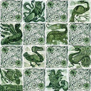 William de Morgan Ceramic or Porcelain Tile Mural